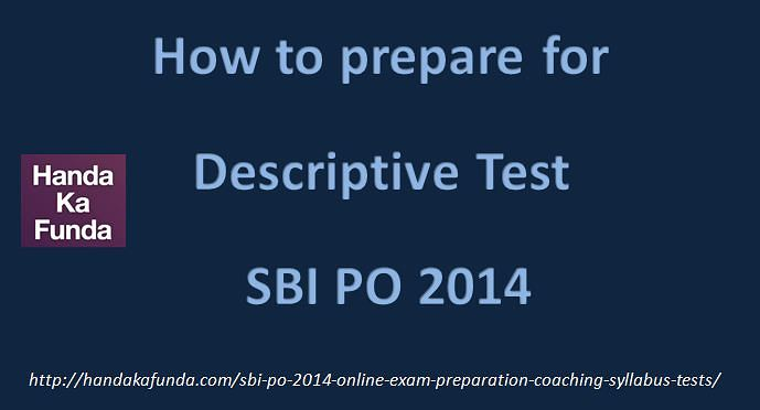 How to prepare for Descriptive test SBI PO exam