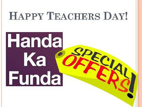 Teachers Day Guru Utsav Discounts Offers