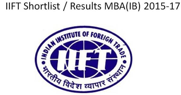 IIFT 2014 Results Shortlist MBA 2015-17