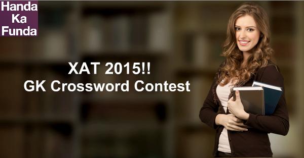 XAT 2015 Crossword Contest