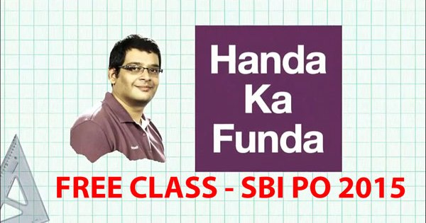 Free Class for SBI PO 2015 Exam