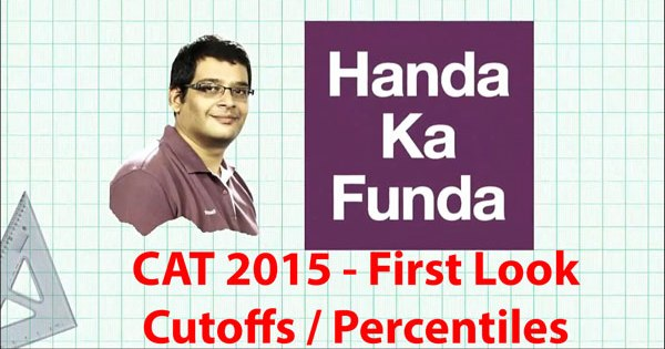 First look at the predicted cutoffs and percentiles for CAT 2015