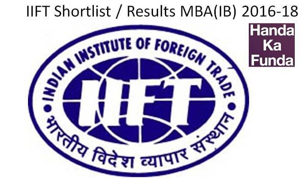 IIFT 2015 Results - Shortlisted candidates for MBA 2016-18