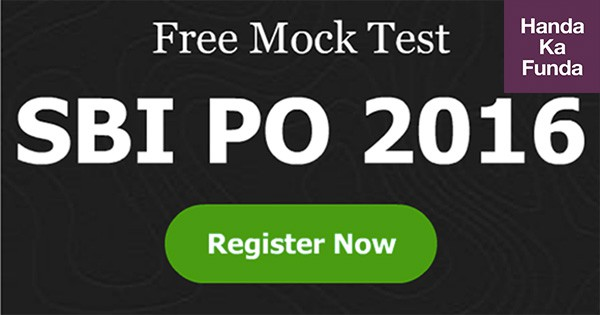 SBI PO 2016 - Free Mock Test for Prelims Exam