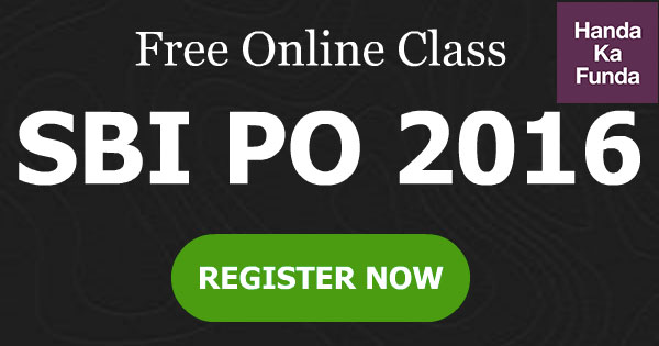 Free Online Class for SBI PO 2016