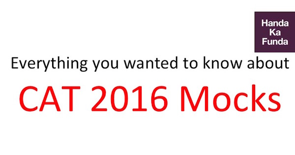 Online Mock Test Series for CAT 2016