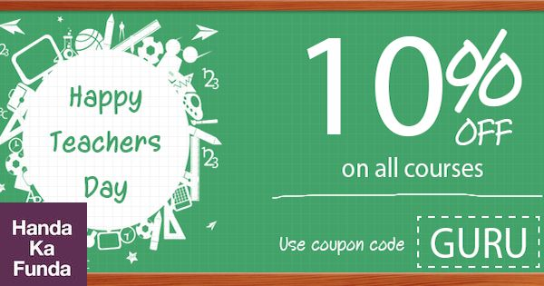 Teachers Day Offer Coupon Code GURU