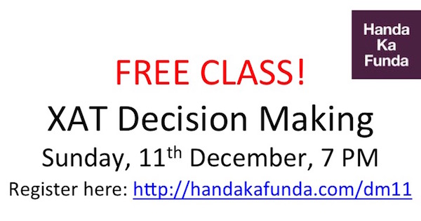 Free Class on XAT Decision Making