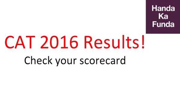 CAT 2016 Results