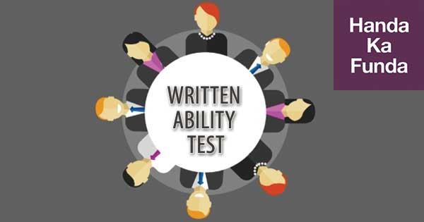 Written Ability Test