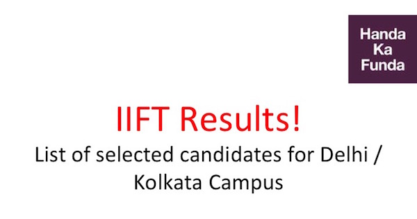 List of selected candidates for IIFT